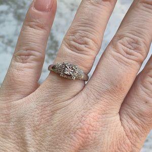 Dainty diamond ring! 925 sterling silver!